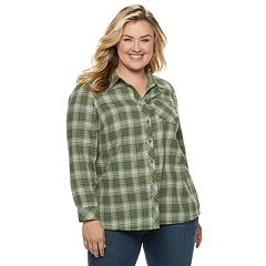 Plus Size SONOMA Goods for Life™ Essential Supersoft Flannel Shirt