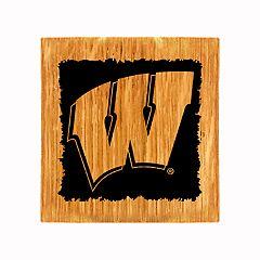 Wisconsin Badgers Wine Barrel Coaster Set