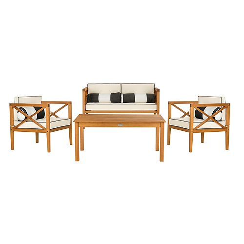 Superb Safavieh Nunzio Indoor Outdoor Loveseat Arm Chair Evergreenethics Interior Chair Design Evergreenethicsorg
