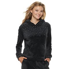 Women's Juicy Couture Embellished Velour Hoodie