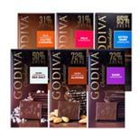 Godiva  Milk & Dark Chocolate Large Bars 6-Piece Variety Pack