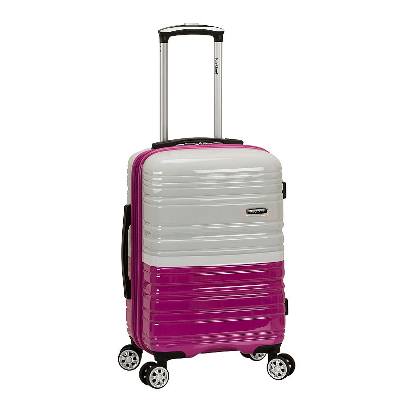 Rockland Melbourne 20-Inch Hardside Spinner Carry-On Luggage, White