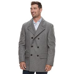 Men's Chaps Classic-Fit Wool-Blend Double-Breasted Peacoat