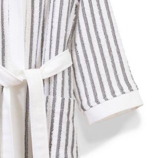 Linum Home Textiles Terry Stripe Hooded Bathrobe