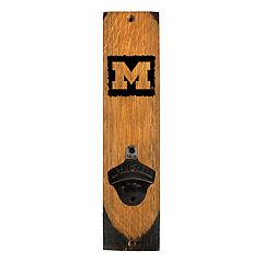 Michigan Wolverines Wall-Mounted Bottle Opener