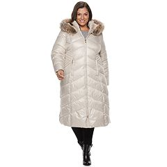 Plus Size Gallery Hooded Long Puffer Jacket