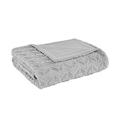Intelligent Design Laila Oversized Quilted Textured Plush Blanket