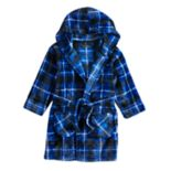 Toddler Boy Cuddl Duds Blue Plaid Hooded Robe