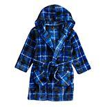Toddler Boy Cuddl Duds Blue Plaid Hooded Robe