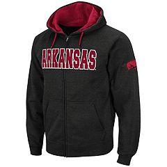 Men's Arkansas Razorbacks Full-Zip Fleece Hoodie