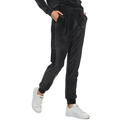 Women's Juicy Couture Nailhead Velour Midrise Jogger Pants