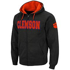 Men's Clemson Tigers Full-Zip Fleece Hoodie