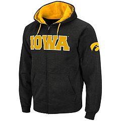 Men's Iowa Hawkeyes Full-Zip Fleece Hoodie