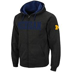 Men's Michigan Wolverines Full-Zip Fleece Hoodie