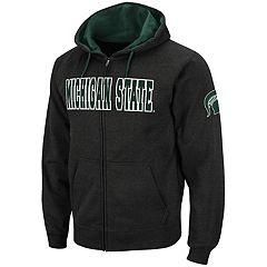Men's Michigan State Spartans Full-Zip Fleece Hoodie