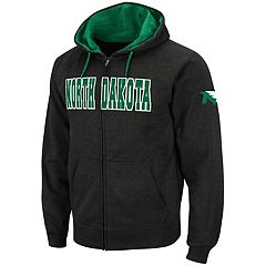 Men's North Dakota Fighting Hawks Full-Zip Fleece Hoodie