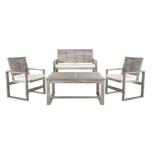 Peachy Safavieh Ozark Indoor Outdoor Loveseat Arm Chair Coffee Evergreenethics Interior Chair Design Evergreenethicsorg