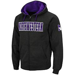 Men's Northwestern Wildcats Full-Zip Fleece Hoodie
