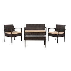 Safavieh Mattia Indoor / Outdoor Loveseat, Chair & Coffee Table 4-piece Set
