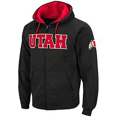 Men's Utah Utes Full-Zip Fleece Hoodie