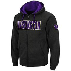 Men's Washington Huskies Full-Zip Fleece Hoodie