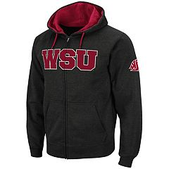 Men's Washington State Cougars Full-Zip Fleece Hoodie