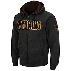 Men's Wyoming Cowboys Full-Zip Fleece Hoodie