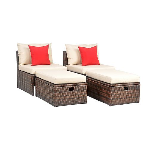 Safavieh Telford Indoor Outdoor Chair Storage Ottoman