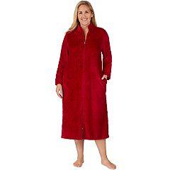 Plus Size Stan Herman Full Zip Plush Robe