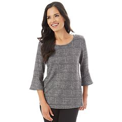 Women's Apt. 9® Mitered Bell Sleeve Top