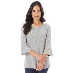 Women's Apt. 9® Soft Mitered Bell Sleeve Top