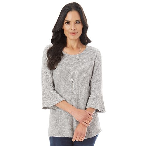 Women's Apt. 9® Soft Mitered Bell Sleeve Top
