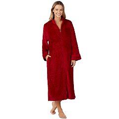 Women's Stan Herman Full Zip Plush Robe
