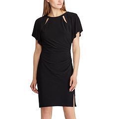 Women's Chaps Cutout Ruched Sheath Dress