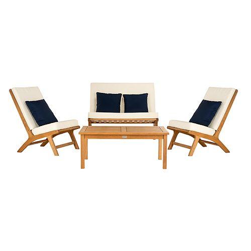 Prime Safavieh Chaston Indoor Outdoor Loveseat Chair Coffee Evergreenethics Interior Chair Design Evergreenethicsorg