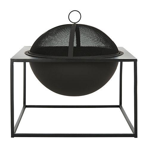 Safavieh Leros Square Outdoor Fire Pit 3-piece Set