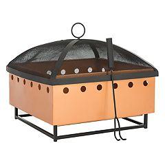 Safavieh Wyatt Square Outdoor Fire Pit