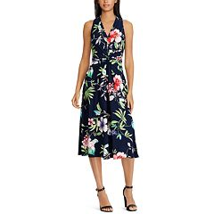 Women's Chaps Knot-Front Halter Dress
