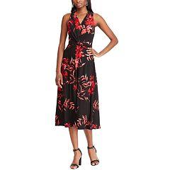 Women's Chaps Knot-Front Halter Dress