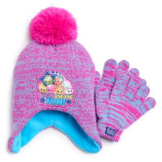 Girls 4-6x Shopkins Hat & Gloves Set