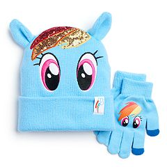 Girls 4-6x My Little Pony Rainbow Dash Sparkle Hat & Gloves Set