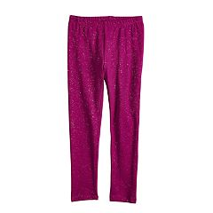 Girls 4-10 Jumping Beans® Glittery Full-Length Leggings