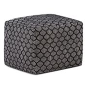 Simpli Home Simpson Square Pouf