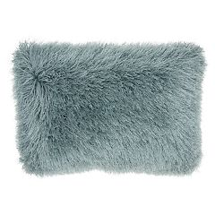 Mina Victory Yarn Shimmer Shag Oblong Throw Pillow