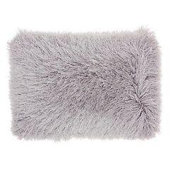 Mina Victory Yarn Shimmer Shag Oblong Throw Pillow