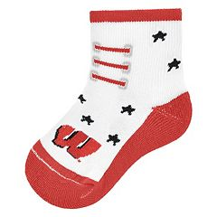 Baby Mojo Wisconsin Badgers Game Socks