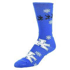 Men's Mojo Kentucky Wildcats Santa's on His Way Crew Socks