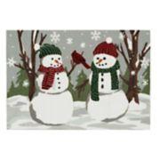 St. Nicholas Square® Snowman Friends Christmas Accent Rug - 20'' x 30''