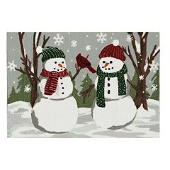 St. Nicholas Square® Snowman Friends Christmas Accent Rug - 20'' x 30''