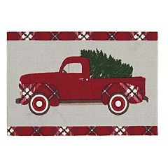 St. Nicholas Square® Christmas Truck Accent Rug - 20'' x 30''